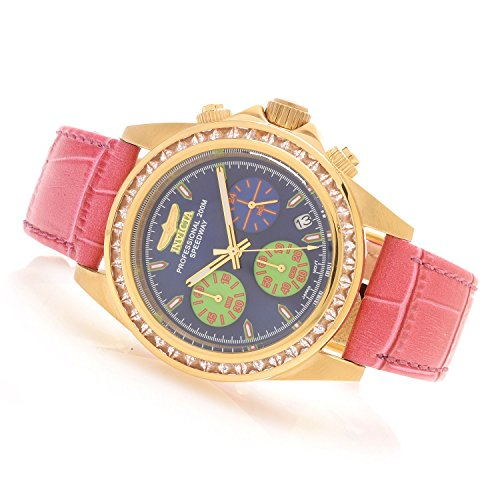 Invicta 18659 Women's Speedway Quartz Chronograph Gemstone Accented Leather Strap Watch