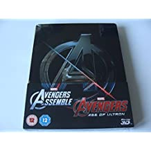 AVENGERS 1-2 ASSEMBLE And AGE OF ULTRON 3D & 2D Blu-Ray SteelBook