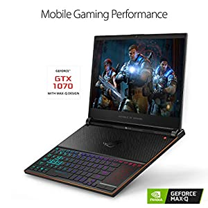 "ROG Zephyrus S Ultra Slim Gaming Laptop, 15.6"" 144Hz IPS-Type, Intel i7-8750H Processor, GeForce GTX 1070, 16GB DDR4, 512GB PCIe NVMe SSD, Military-grade Metal Chassis, Windows 10 - GX531GS-AH76"