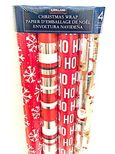 - Kirkland Signature Christmas Gift Wrap 4 Pack 180 Sqft
