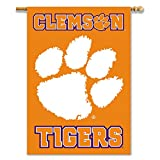 NCAA Clemson Tigers 2-Sided 28'' x 40'' House Banner with Pole Sleeve, One Size, Orange