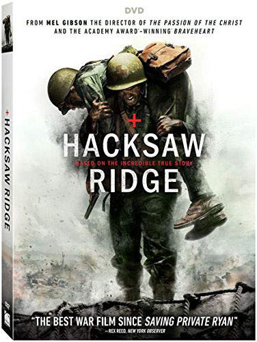 Amazon Com Hacksaw Ridge Dvd Andrew Garfield Sam Worthington Luke Bracey Teresa Palmer Hugo Weaving Rachel Griffiths Vince Vaughn Mel Gibson Movies Tv
