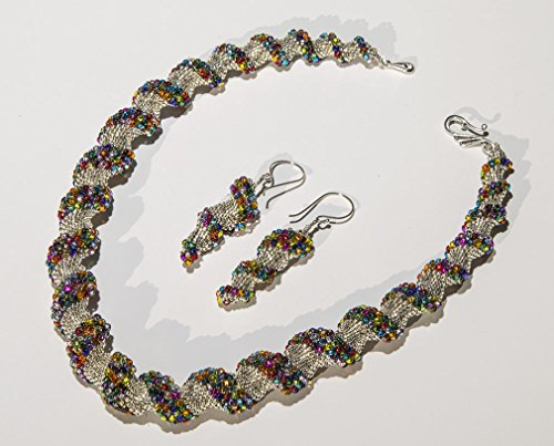 Silvery Cellini Spiral Stunner Necklace & Earrings