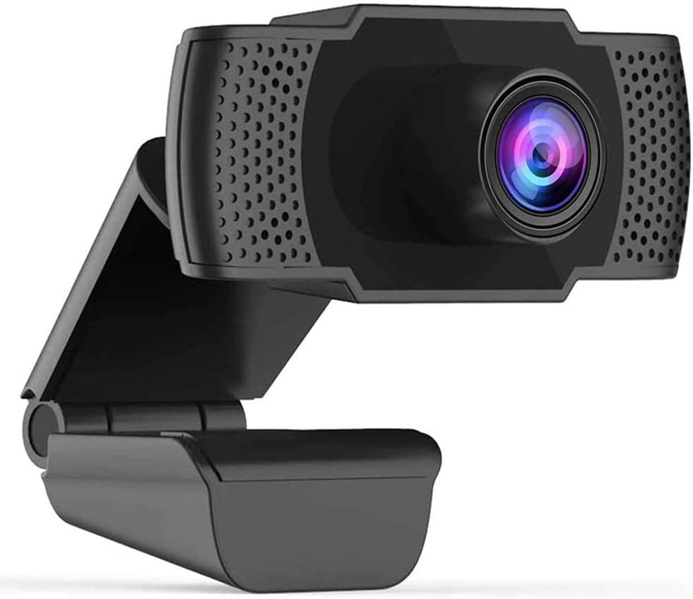 2020 1080p Webcam with Microphone, Yeasica USB 2.0 Desktop Laptop Computer Web Camera, Plug and Play, for Windows Mac OS, for Zoom Meeting, YouTube, Skype, Video Streaming, Conference, Online Classes