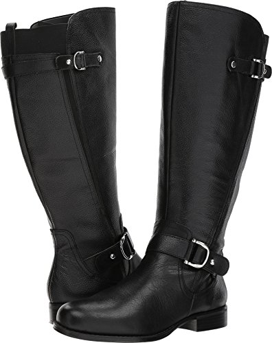 Naturalizer Women's Jenelle Wide Calf Riding Boot, Black, 6 M US