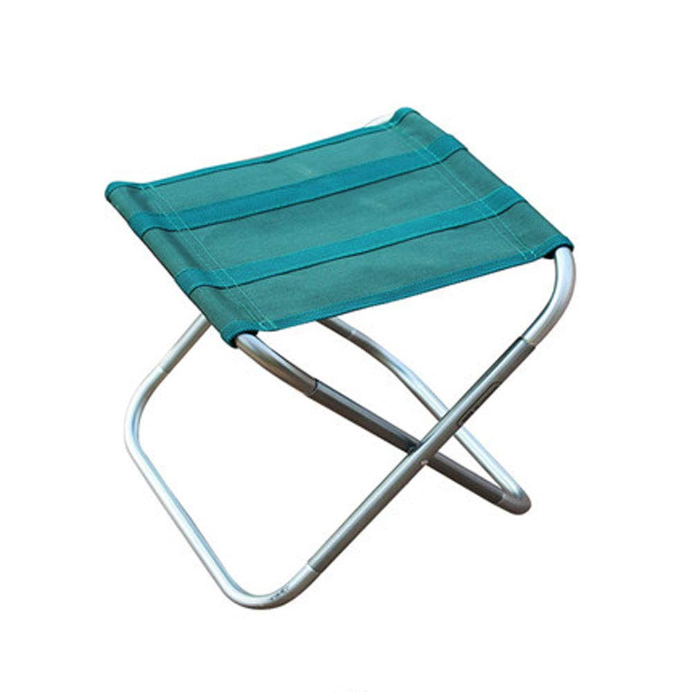 BFQY FH Im Freien Faltbarer Tragbarer Schemel, Fischen-Stuhl-Kunst-Aluminiumlegierung Ultraleichtes Mini-Mazar 26 × 22,4 × 25cm, Grün Schwarzes Wahlweise Freigestellt