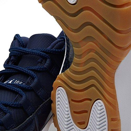 Nike Air Jordan 11 Retro Low, Zapatillas de Baloncesto para Hombre midnight navy/wht-gm lght brwn