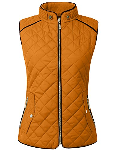 (NE PEOPLE Womens Lightweight Quilted Zip Jacket/Vest)