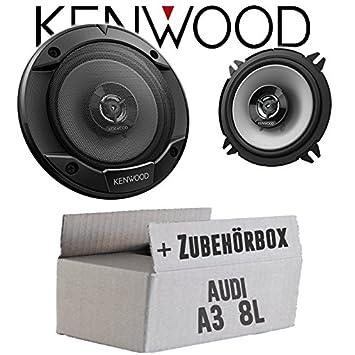 Audi A3 8L - Altavoces Cajas Kenwood KFC-X de s1366 - 13 cm de 2 Vías Coaxial Auto Juego de Instalación de Accesorio - Instalación: Amazon.es: Electrónica