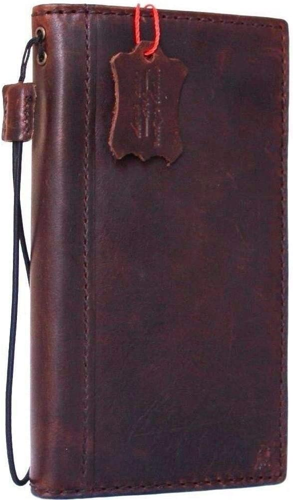 Genuine Real Leather Case for iPhone 6 Plus Book Wallet Handmade Luxury Cover 6s+ Slim Elastic Band