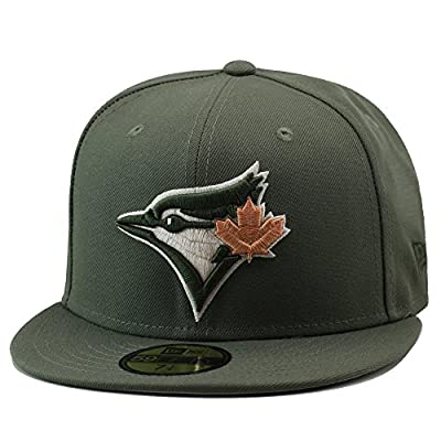 New Era Toronto Blue Jays Fitted Hat Cap Olive Green/Tan Leaf
