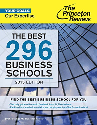 The Best 296 Business Schools, 2015 Edition (Graduate School Admissions Guides) (Best Career Placement Test)