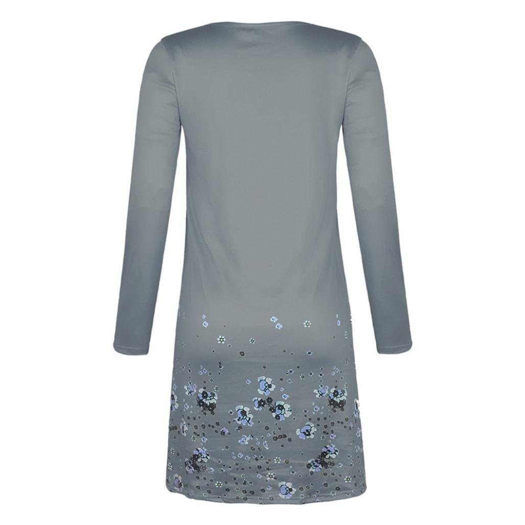 Amazon.com: Teresamoon Womens Long Sleeve Dress Casual Swing T-Shirt Dresses: Clothing