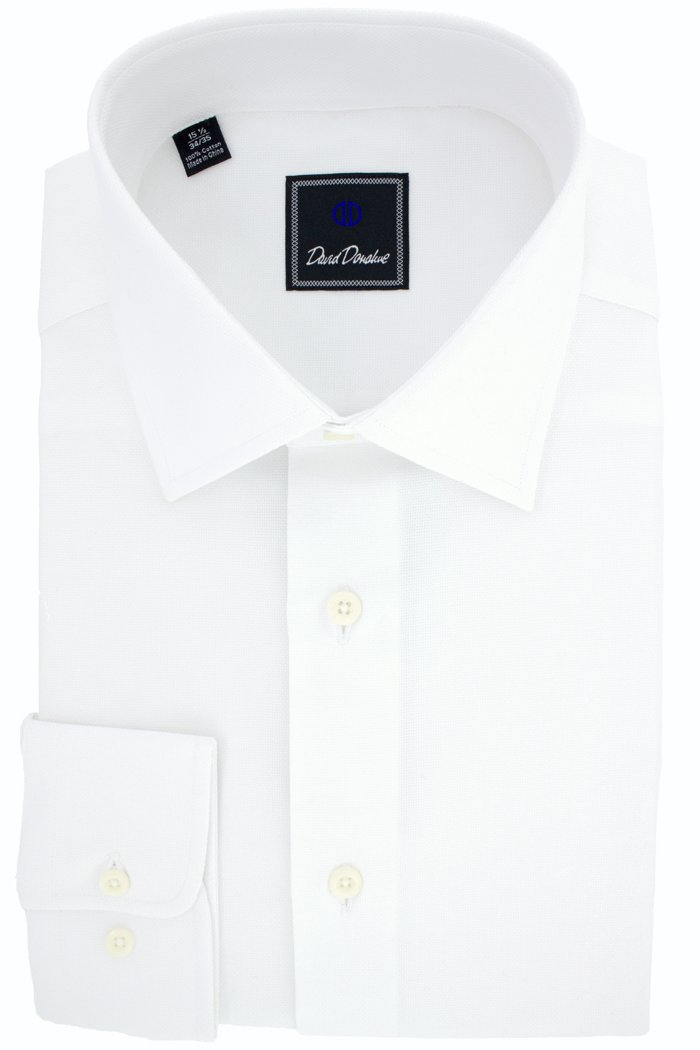 David Donahue Men's Royal Oxford Trim Fit Dress Shirt - Size 15, 32/33 by David Donahue