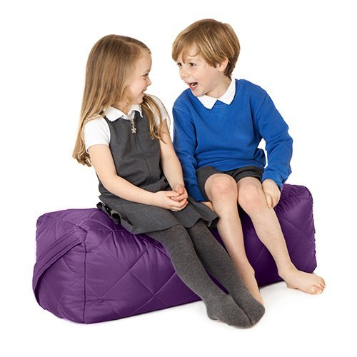 Fun!ture Purple Quilted Water Resistant Rectangular Bean Bag