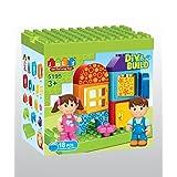[Little Treasure] Little Treasures Children Playground Park Building block 18 pieces Duplo compatible toy set for 3+ preschoolers 5195 [parallel import goods]
