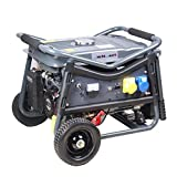 SwitZer Petrol Gasoline Generator Electric Start With Battery Handle Wheel 3KW 7HP 4 Stroke 50HZ Single Cylinder Dual Voltage Low Noise SZ-LT3900EV Grey