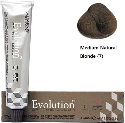 Alfaparf Evolution of Color 7 Medium Natural Blonde Permanent Hair Color 2.05 oz. (58.2 g) by Alfaparf Milano by Alfaparf Milano