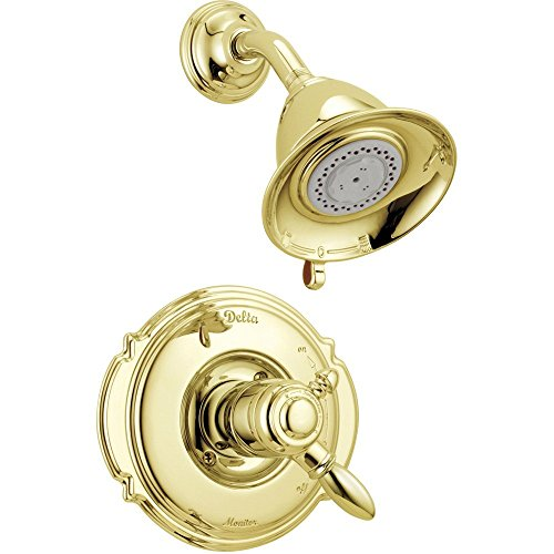 Delta Victorian Dual Control Temp/Volume Polished Brass Shower with Valve D698V by Delta