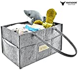Matador Useful Goods | Baby Diaper Organizer Caddy - Felt Storage Tote for Changing Table - Baby Shower Gift - Nursery Room Basket - Portable Bag for Car, Wipes, Toys - Newborn Registry Must Have