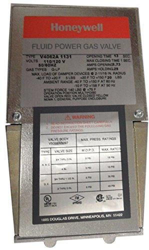 2A1131 Off-Lo-Hi Fluid Power Gas Valve Actuator, 120 Vac, Damper Shaft ()