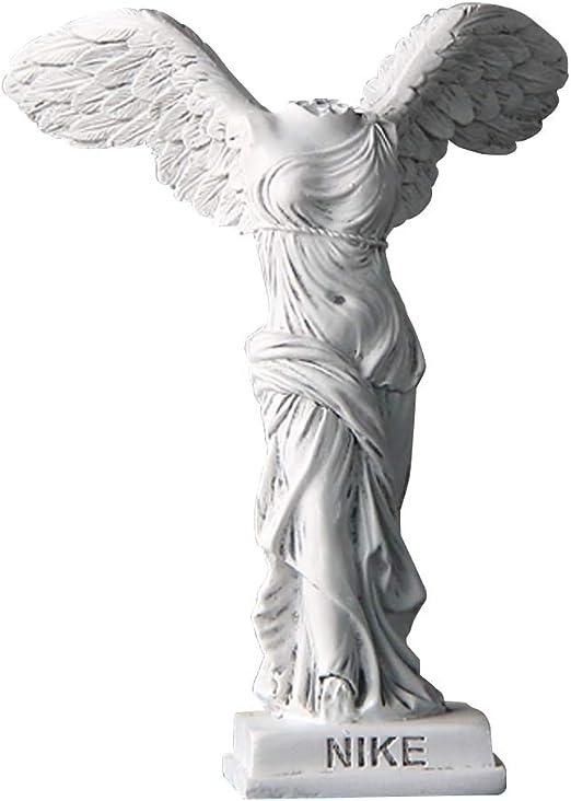 Anillo duro bañera Contribuyente  Amazon.com: Ellen Deco - Estatua griega Nike de Samotracia, diosa romana,  Victoria Winged Victory, figura decorativa, color blanco vintage, 6.0 in,  pequeño: Home & Kitchen