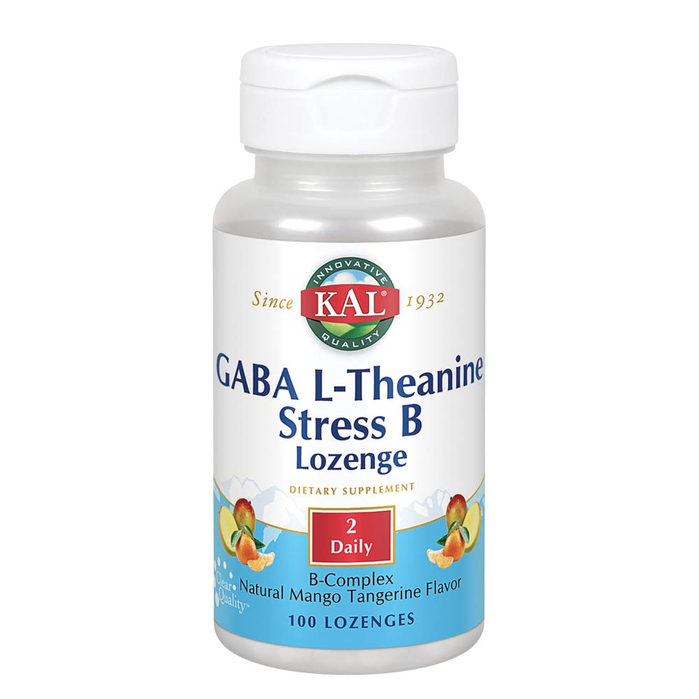 KAL GABA L-Theanine Stress B Lozenge | Healthy Relaxation, Mood & Focus Support