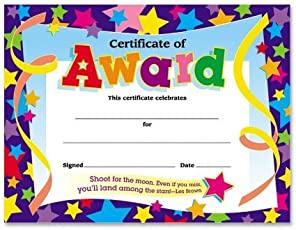 Awards certificates amazon office school supplies trend certificates of award 8 12 x 11 30pack yelopaper Image collections