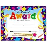 30 Certificates of Award (Large) Star Certificate pack