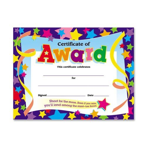 student award certificates amazon com