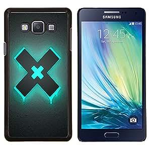 EJOOY---Cubierta de la caja de protección para la piel dura ** Samsung Galaxy A7 A7000 ** --Azul X