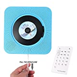 Leegoal Portable CD Player, Wall Mountable CD Player with Remote Control, FM Radio, Built-in HiFi Speakers, MP3 Headphone and USB Drive Player, Bluetooth CD Music Player Home Audio Boombox