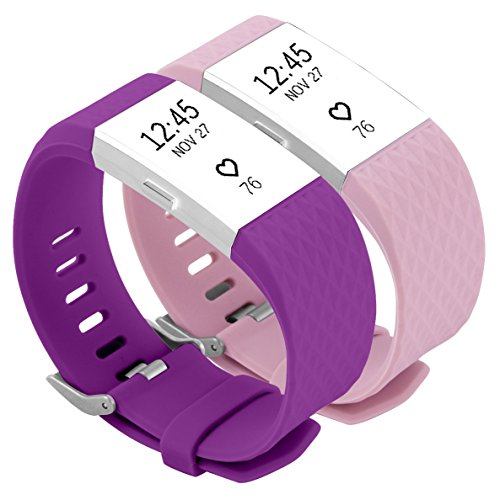 Charge 2 Diamond 3D Wristbands, Multicoloured Military Grade Silicone Bands With Nub That Secures Strap, Super Comfortable Smooth Replacement Watchband for Fitbit Charge HR 2 Heart Rate