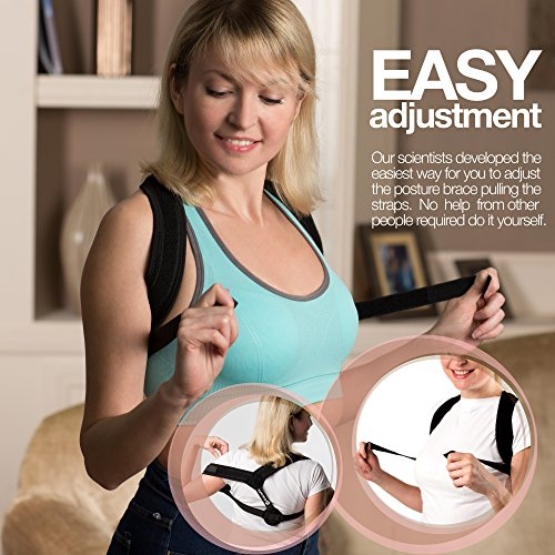 Eatisfit Professional Posture Corrector Back and Shoulder Support for Women and Men. Best Way to Improve Bad Posture, Prevent Slouching and Relieve Pain. Includes Carry Bag by Eatisfit (Image #2)
