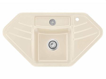 Systemceram Vega Corner Noblesse Ceramic Sink Handle Beige Built In