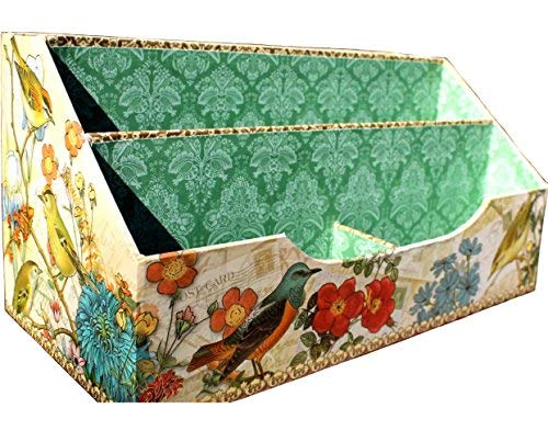 Punch Studio Meadow Lark Bird Letter Holder Desk Caddy Organizer 61338, - Studio Punch Book