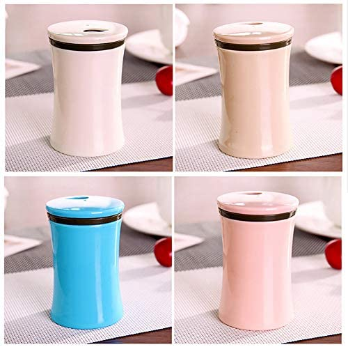 Oyov2L Concise Glossy Surface Toothpick Container Box Case Holder Home Restaurant Decor Portable Toothpick Box White
