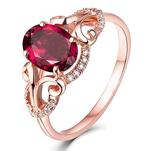Fancy 0.94ct Genuine Pink Gemstone Tourmaline Diamond 14K Rose Gold Wedding Engagement Band Ring Set for - Tourmaline Jewelry Gold Set