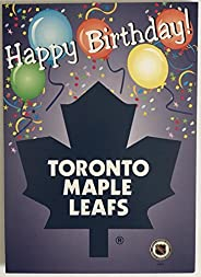 """Toronto Maple Leafs Birthday Card with Envelope 5""""x7"""" - Officia"""