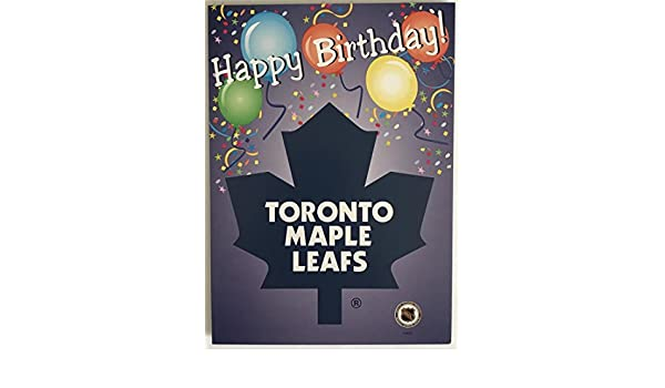 Toronto maple leafs birthday card with envelope 5x7 official toronto maple leafs birthday card with envelope 5x7 official licensed amazon sports outdoors bookmarktalkfo Images