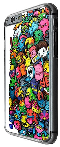 990 - Cool fun cute doodle scary cartoon colourful monsters funny illustration zombie alien hero robot kawaii bomb Design For iphone 5C Fashion Trend CASE Back COVER Plastic&Thin Metal -Clear