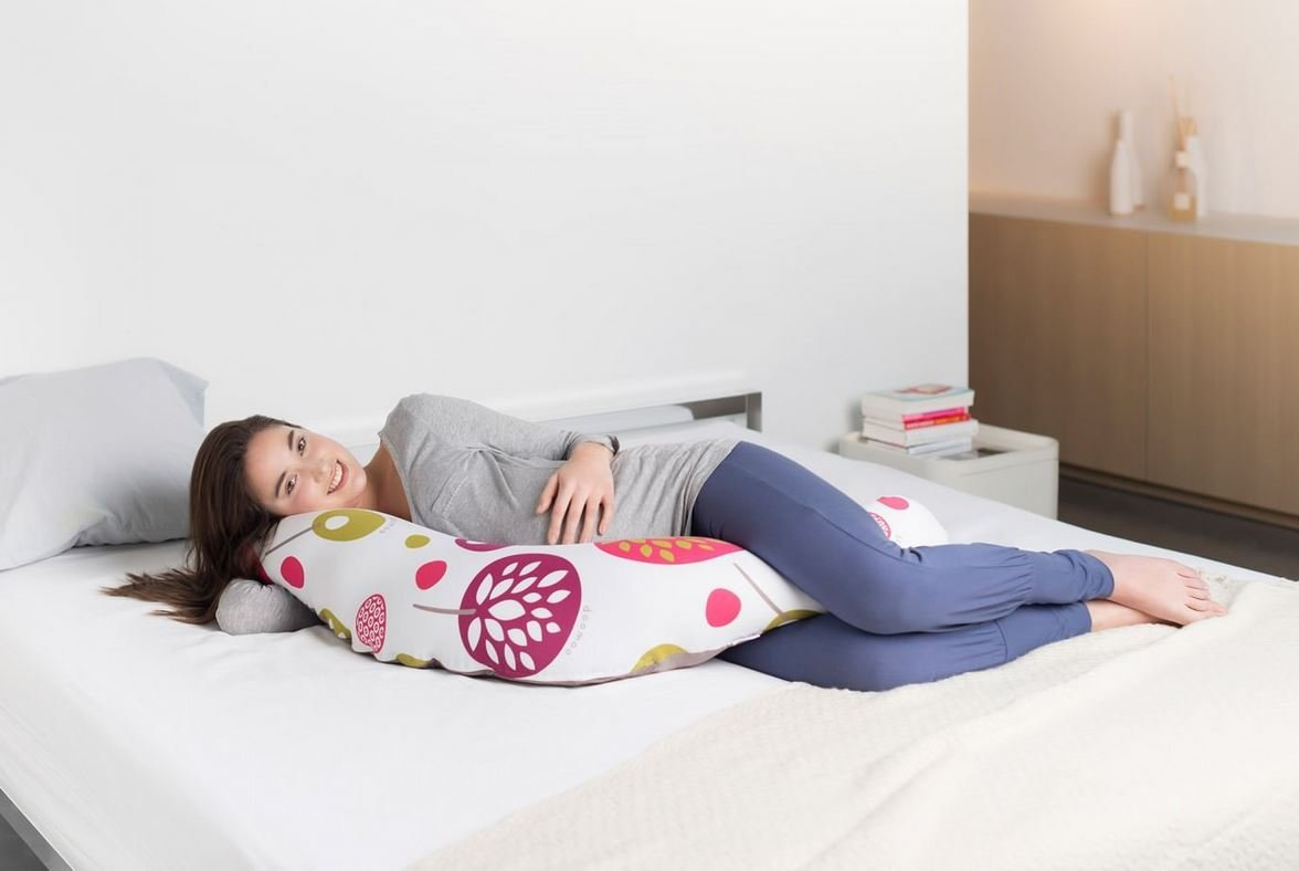 doomoo Buddy Multifunctional Breast//Bottle Feeding Giraffe Grey Pregnancy Support Pillow