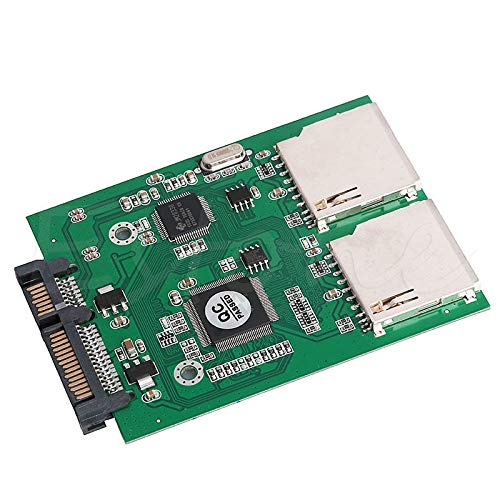 FidgetFidget Converter No SD Card Size Limit Dual 2 Port SD SDHC MMC RAID to SATA