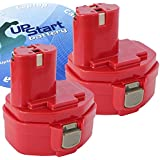 2-Pack Replacement Makita 8280D Battery - For Makita 14.4V Battery (1300mAh, NICD)