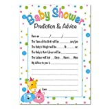 Baby Shower Prediction and Advice Game, Cute Animals Theme by Ezstickers
