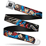 Buckle-Down Seatbelt Belt - Superman Metropolis Face-Off - 1.5' Wide - 32-52 Inches in Length