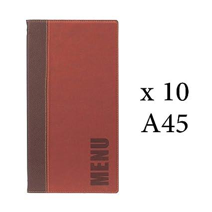 SECURIT Lot 10 protège Menu Long Tendance Format A45 Couleur ...