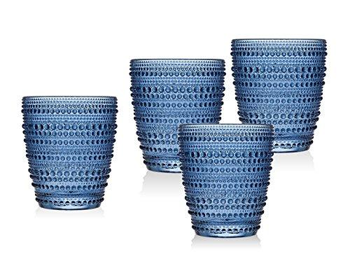 blue juice glasses - 1