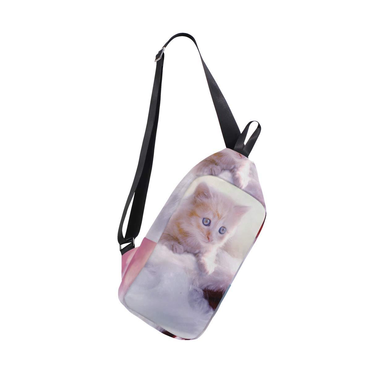 AHOMY Kitten Lovely Messenger Bag Small Travel School Sling Bag Crossbody Bag