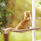 SUNNY SEAT Cat Bed, Cat Window Perch Window Seat Suction Cups Space Saving Cat Hammock Pet Resting Seat Safety Cat Shelves - Providing all Around 360° Sunbathe for Cats Weighted up to 44 lb